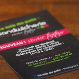 IMPRESSION FLYERS LIEGE BOGRAPHIK SANDWICHERIE