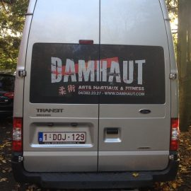 LETTRAGE VEHICULE BOGRAPHIK LIEGE MICROPERFORE CAMION